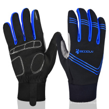 Hot Sale Outdoor Sports Gloves Windproof Winter Bike Luvas de ciclismo para mulheres Warm Full Finger Bicycle Riding Gloves