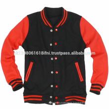 Black red Colorful baseball custom varsity jacket for wholesale