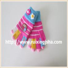 Теплый подарок перчатки зимние леди жаккард дизайн