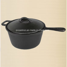 Preseasoned Cast Iron Milk Pot 2qt