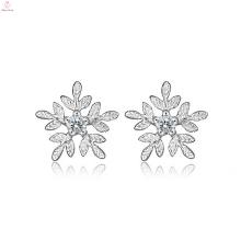 Guangzhou Zirconia 925Sterling Silver Stud Earrings