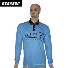 Wholesale100% полиэстер Поло T-Shirt для мужчин, небесно-голубой Поло