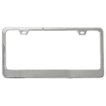 Precision custom stainless steel car license plate frame