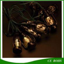 Солнечные черные 10PCS Маленькие конские светильники для рождественских праздников