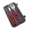 7pcs bbq carving set med skewer