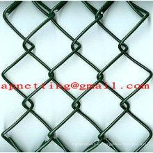 1 alambre galvanizado del acoplamiento de la cadena de la malla de alambre del diamante de la malla de la cerca del acoplamiento de cadena