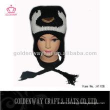 Tricot en hiver crochet chapeau pour bébé