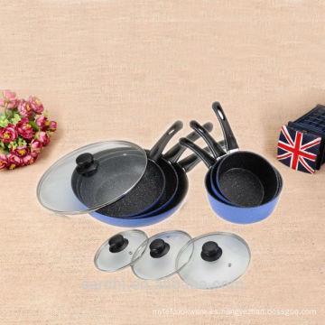 China 2016 nuevos productos antiadherentes utensilios de cocina esmalte establece