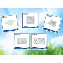 difusor de alumínio 4 vias tecto para ventilação de ar