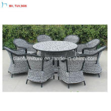 C-Outdoor Rattan Luxury Dining Chair and Round Table