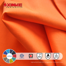 Chama de algodão 100% - pano retardante para vestuário de trabalho