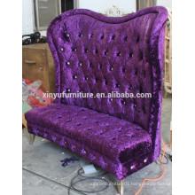 Elegant arabian purple fabric living room sofa XY0372