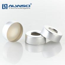 20mm Aluminium Crimp Kappe mit Beige PTFE Weiß Silikon GC Septa