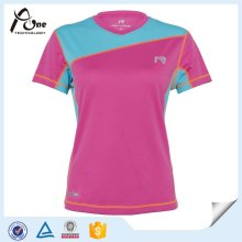 Wholesale Women Breathable V-Neck Sports Tshirt Soprt Wear