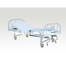 A-132 Cama de hospital manual móvel de duas funções