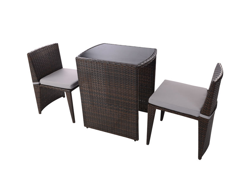 3pc rattan coffee sapce- saving furniture set