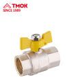 Fornecimento de Alta Qualidade DN15 Válvula de Gás De Bronze Longo Ferro Controle Lidar Com Válvula De Esfera De Cobre