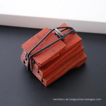 Erstellen Sie Ihre eigene Marke Herren Hand Craft Peach Skinny Wooden Neck Tie