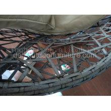 Cadeira de malha do Rattan ao ar livre aço plástico PE