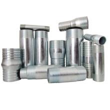 favoris comparer électrique mamelon baril en acier au carbone galvanisé / mamelon de pipe gb / bs / din