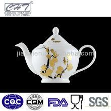 A057 gold winter-sweet decorative ceramic chinese teapot design
