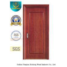 Puerta estilo simple MDF para habitación sin vidrio (xcl-035)