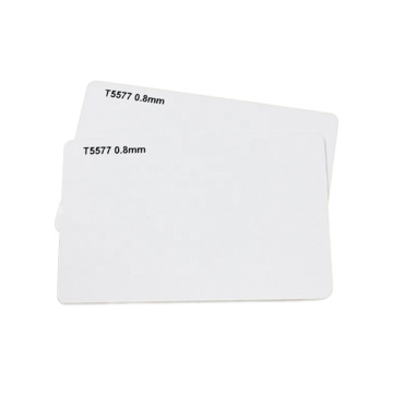 Cartes PVC vierges blanches LF RFID T5577