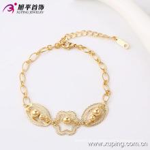 Xuping elegante 18k banhado a ouro talão imitação jóias pulseira (74166)