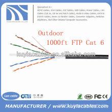 Black 1000FT Câble LAN 4pairs Cat6 à l'extérieur Câble FTP
