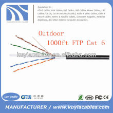 Черный 1000FT Открытый 4pairs Cat6 LAN кабель FTP-кабель