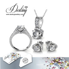 Destiny Jewellery Crystal From Swarovski Eve Set Pendant Ring and Earrings