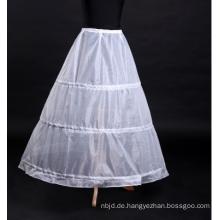 Weißer Brautpetticoat Abendkleid Petticoat mit 3 Schichten Hoops Puffy Bridal Crinoline