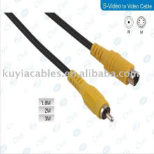 5FT convertisseur s-video to component convertisseur d'adaptateur composée de câble RCA