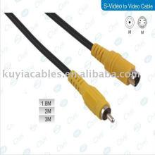 5FT s-video para conversor de componente RCA Cable Composite Adapter Converter