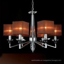 Lámpara de cristal superior moderna de hierro para la decoración del hogar