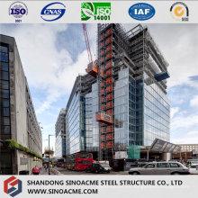 Marco de estructura de acero pesado para rascacielos comercial