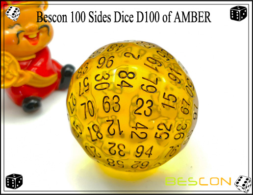 Bescon 100 Sides Dice D100 of AMBER-2