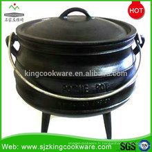 Vente chaude pot de feu en fonte, pots de fonte antiques, fondue fonte