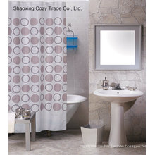 Popular Circle Design Shower Curtain Polyester