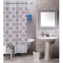 Popular Circle Design Shower Curtain Polyester