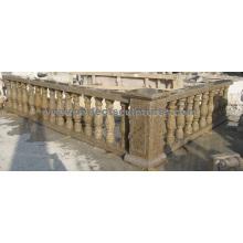 Balaustrada de granito de mármol de granito con barandilla de baluster (LG027)