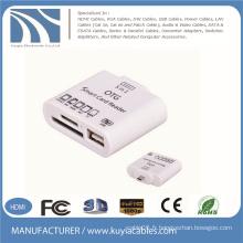 Ensemble de connexion 5 en 1 OTG Smart Card Reader pour Samsung Tablet PC Support TF / MMC / SD / M2 / MS