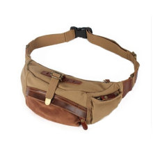 Män Tactical Canvas Army Fanny Pack midja väska