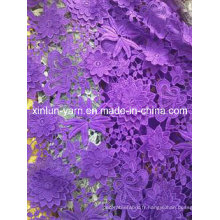 100% polyester matériaux dentelle tissu pour femme robe