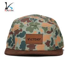 logo en cuir personnalisé blanc logo imprimé numérique 5 camo chapeaux pas de minimum