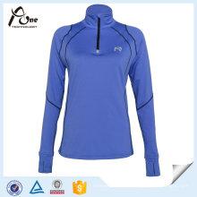 Chemises d'entraînement en polyester à ajustement rapide pour femmes