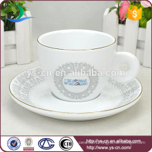 Wholesale Elegant Decal Ceramic Cup and Saucer