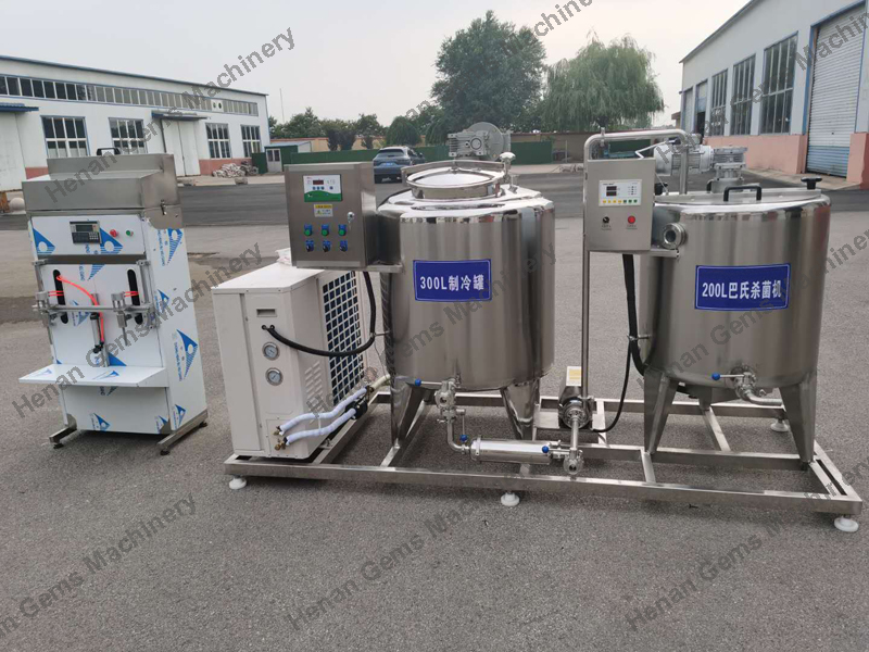 300L Pasteurized Milk Plant Milk Processing Machine