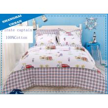 3 peças de edredão de cama de algodão com capa (conjunto)
