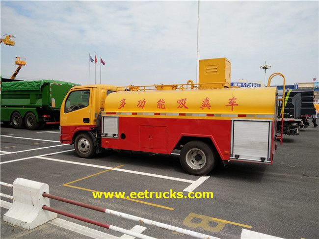5000L Sewage Suction Tanker Trucks
